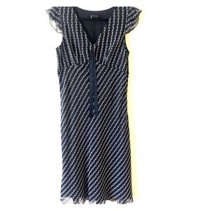 INC 100% silk midi dress